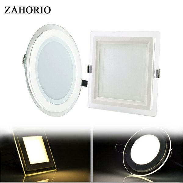 2019 Modern Design With Glass Cover Panel Light 6W 12W 18W LED Ceiling  Recessed Downlight Square Kitchen Light From Biaiju, $30.32 | DHgate.Com