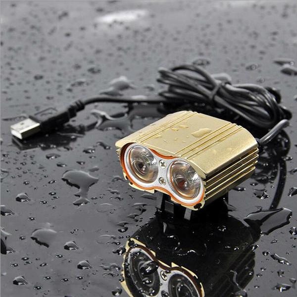 CREE XML T6 Bike LED Light Handlebar USB 2000 Lumens Lantern 2X Headlight Cycling Waterproof Front Lamp Bicycle Accessories Velo Y1892809