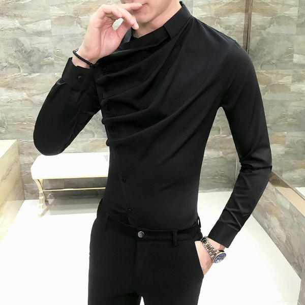Camisa da festa preto