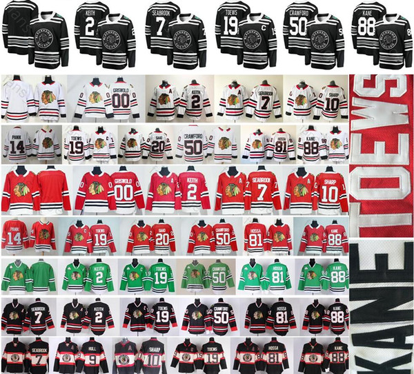 top popular 2019 Winter Classic Chicago Blackhawks Hockey 19 Jonathan Toews 88 Patrick Kane DeBrincat Keith Clark Griswold Hossa Corey Crawford Jersey 2019