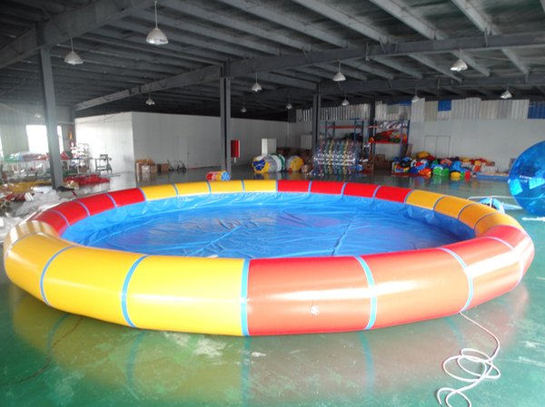PVC inflatable pool jumping swimming pool with blower for adults and kids on sale