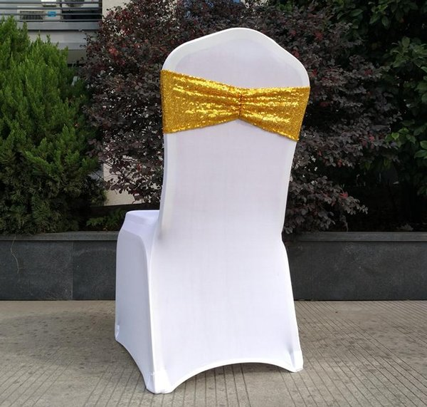 Fine 2019 Sequin Organza Chair Covers Sashes Band Wedding Tie Backs Props Bowknot Chairs Sash Buckles Cover Back Hostel Trim Gold Sn2131 From Zhanhuahome Creativecarmelina Interior Chair Design Creativecarmelinacom