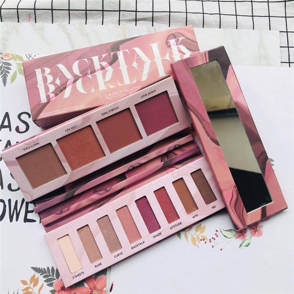 BackTalk Eyeshadow Palette Makeup Matte Shimmer Natural Smoky Nude Warm Eye shadow Professional Highlighter Face Eyes Palettes with mirror