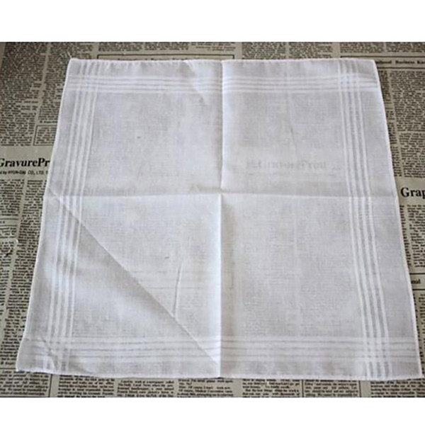 top popular 100% Cotton White Handkerchief Male Table Satin Hankerchief Towel Square Knit Sweat-absorbent Washing Towel For Baby Adult HH7-916 2019