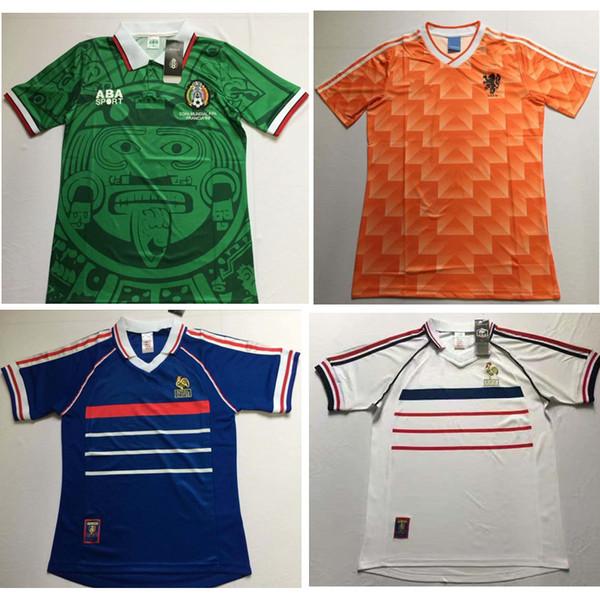 S-2XL 1998 France Retro Jerseys Classic Vintage Soccer jersey 98 zidane football shirt henry camisa de futebol