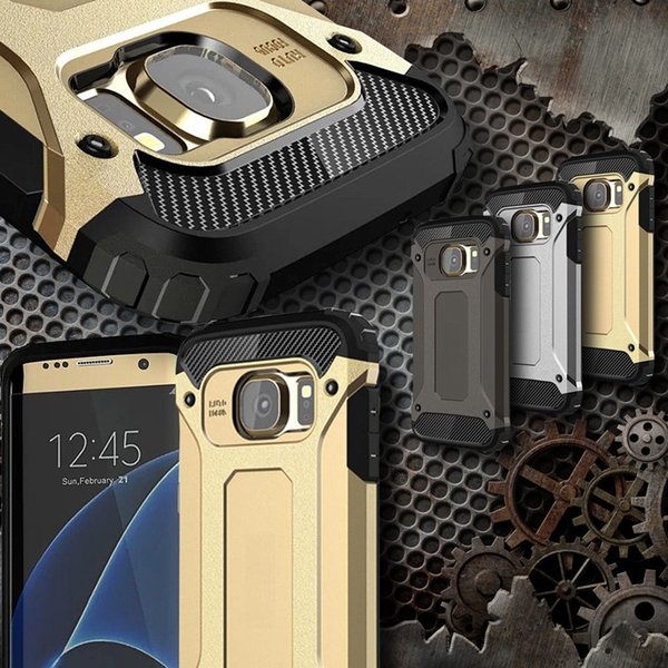 Luxury Tough Slim Durable Armor Phone Case For Samsung Galaxy S8 S9 Plus S5 S6 S7 Edge Hybrid TPU+PC Shockproof Protective Cover