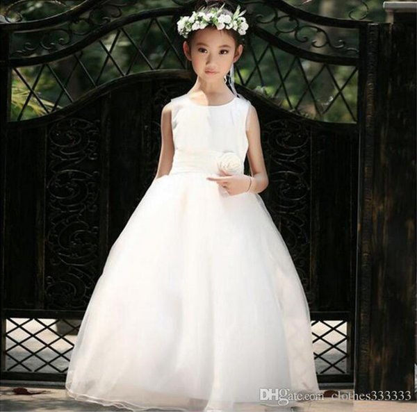 Flower Girl Dresses for Wedding Blush Pink Princess Tutu Sequined Appliqued Lace David knot flower princess skirt 1192