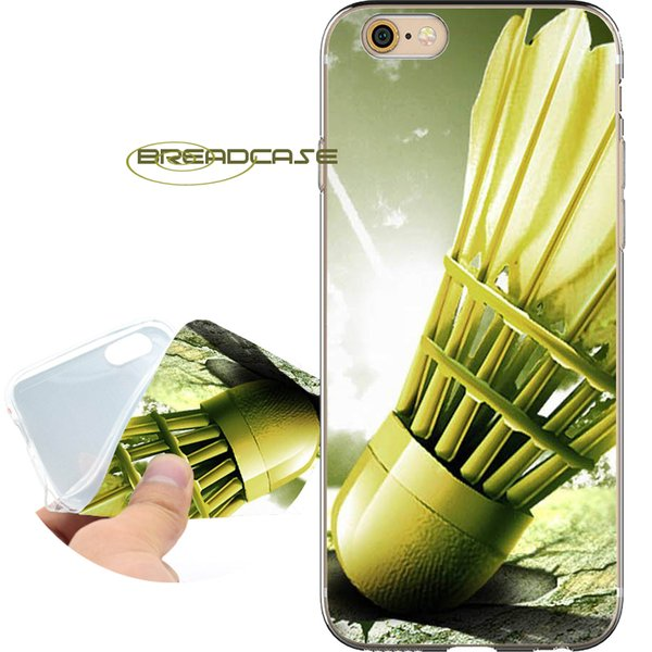 Coque Badminton Sport Shell Cases for iPhone 10 X 7 8 6S 6 Plus 5S 5 SE 5C 4S 4 iPod Touch 6 5 Clear Soft TPU Silicone Cover.