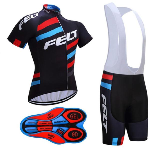 2017 FELT Bisiklet formalar Kısa Kollu Set Maillot Ropa Ciclismo Nefes Bisiklet Bisiklet Giyim Sportwear Çin
