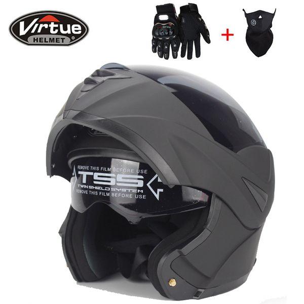 best selling Free shipping! 2018 new fashion double lens flip up motorcycle helmet motocross full face helmet fit for men women