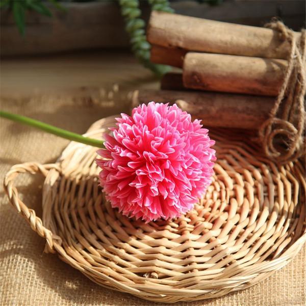Cabeza sola hortensia Flor bola centros de mesa de seda flores decorativas colgando flor bola boda boda beso bola decoración del hogar