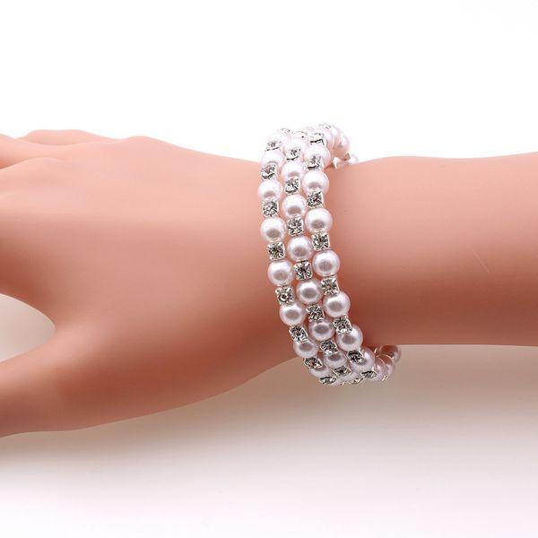 2018 Faux Pearl Bracelet Bridal Jewelry Wedding Accessories Lady Prom Evening Party Jewery Bridal Bracelets Women