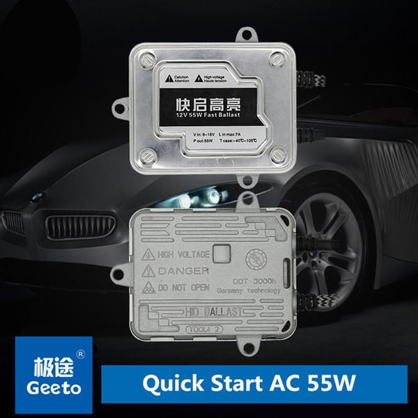 Цифровой AC 55 Вт HID балласт 1 второй быстрый старт для HID ксенон преобразования Kit авто лампы фар автомобиля лампы бесплатная доставка