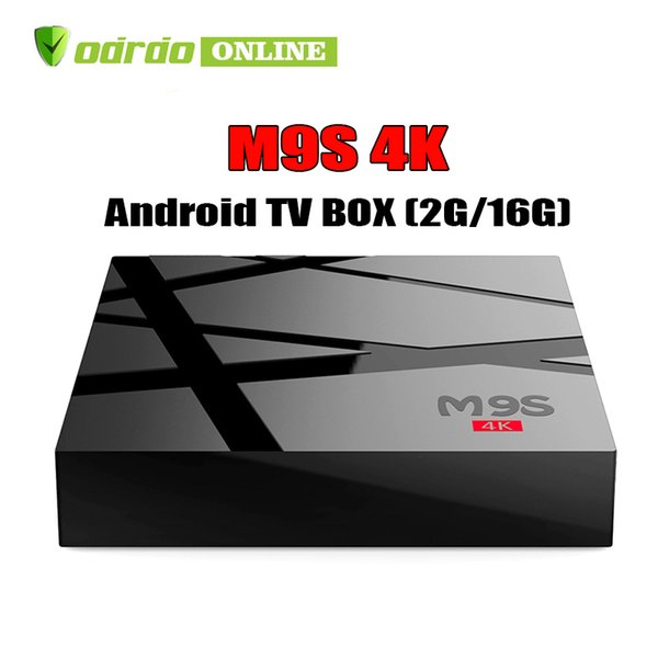 Cheapest Quad Core M9S 4K Android TV BOX 2GB 16GB Bluetooth Android Media Player BETTER TX3 TX2 X96 MXQ PRO S905W