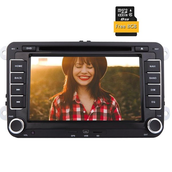 top popular Car video Double din 2 din automagnitol car radio stereo for VW car audio in dash DVD player autoradio 8GB gps map card 2021