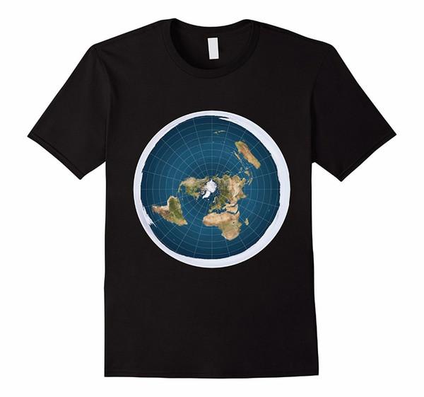 Men's Fashion Flat Earth T-Shirt Cotton Classic Cool Short Sleeve Tops & T-Shirts 2018 Summer T-Shirts For Men