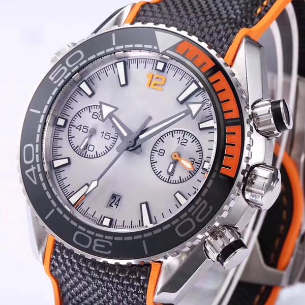 Clássico Mens Designer Relógios Luminous Chronograph VK Japão Quartz Man Relógio De Luxo Relógio Profissional 007 Relógios De Pulso