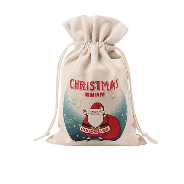 Sleeper #4001 Cute Drawstring Santa Claus Christams Gift Bag Home Decorations free shipping