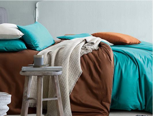 esportazione Europa e America 60 lungo cotone biancheria da letto set di biancheria da letto AB disegni, set di biancheria da letto hotel reattivo colore solido