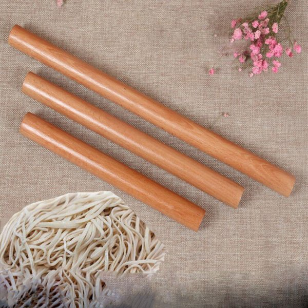 best selling 5 Size Kitchen Wooden Rolling Pin Fondant Cake Decoration Dough Roller Baking kitchen Cooking Tools Accessories