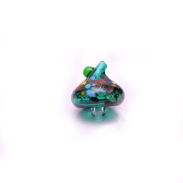 Teal Carb Cap cogumelo Carb Cap Fluxo de Ar Direcional 35mm cap para Bongo de Quartzo Prego ou Mini Bongs Dab Plataformas de Petróleo