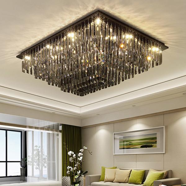 Großhandel Luxus Rechteck Kronleuchter Kristall Lampe Küche Kronleuchter  Leuchten Quadrat Lüster Wohnzimmer Hotel Lichter LED Lampe Von ...