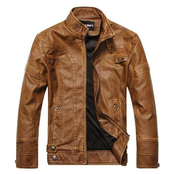 Men Leather Jackets Men Jacket High Quality Classic Motorcycle Bike Cowboy Jackets Male Plus Velvet Thick Coats M-4XL