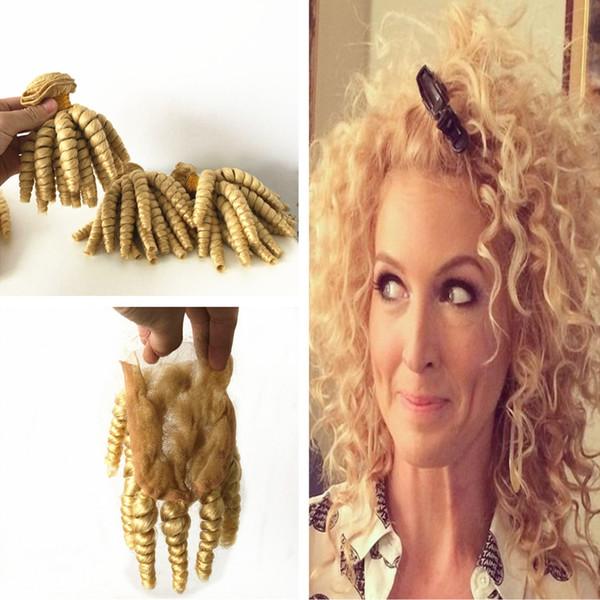 Grosshandel Blonde Farbige 613 Lose Locken Virgin Haarverlangerungen Mit 4x4 Verschluss Tante Funmi Blonde 613 Menschliches Haar 3 Bundles Mit