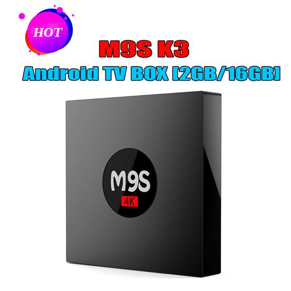 RK3229 Android 4K TV Boxes 2G 16G M9S K3 4K Smart TV Box Quad Core Stream Internet Box 2018 nuevo