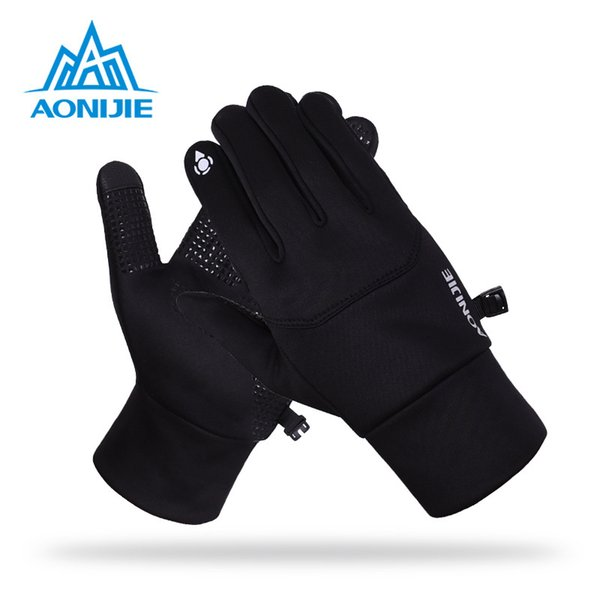 AONIJIE 2017 Touch screen Sports Running Gloves Men Women Outdoor Warm Windproof Multi-function Gym Fitness Gloves for Jogging