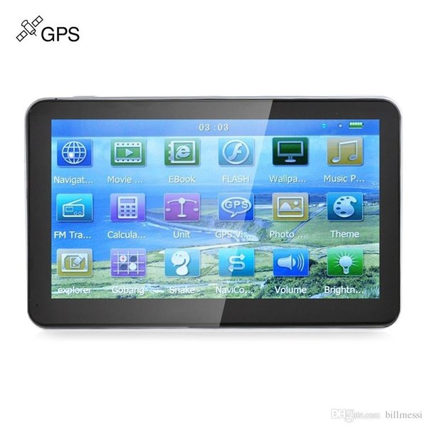 704 7 inch Truck Car GPS Navigation Navigator Win CE Media Tek MT3351C Touch Screen 800 x 480 Multi-media Player with Free Maps For Cars +B