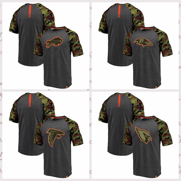 low priced ddef5 9cb0b 2018 Pro Line By Fanatics Branded Atlanta Falcons Baltimore Ravens Arizoa  Cardials Buffalo Bills Heathered Graycamo Recon Camo Raglan T Shirt From ...