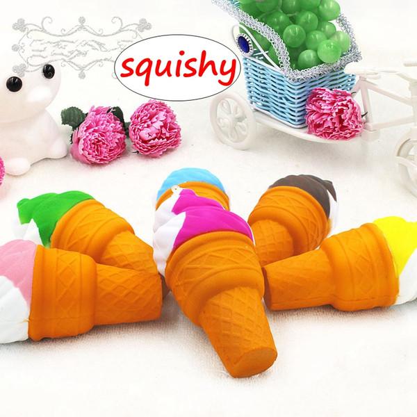 Squishy PU juguetes de helado Multi-color Slow Rising Pan suave Elasticidad Stretch Descompresión Toy Fun Gift