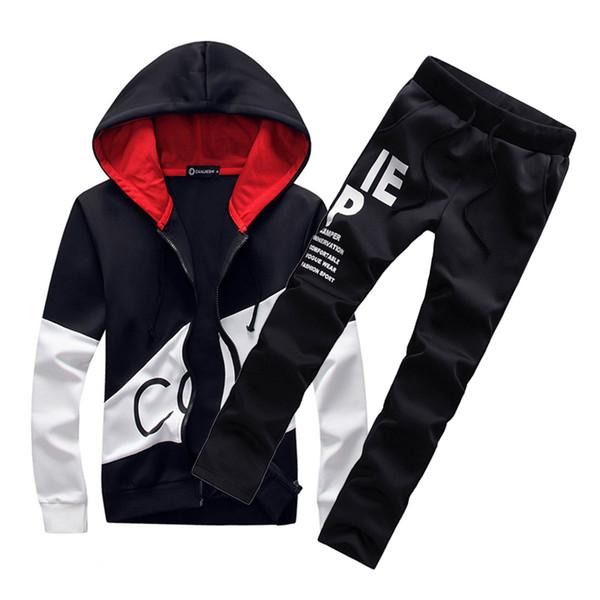 5XL Large size Herren Sportanzüge Trainingsanzug Männer Set Sportswear Sweatsuit männlichen Schweiß Track Anzug warme Jacke Hoodie mit Hosen