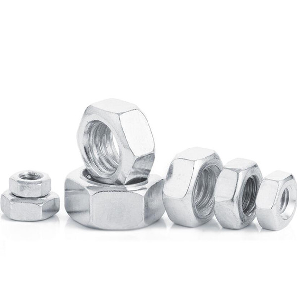 best selling 200Pcs DIN934 M2 M2.5 M3 M4-M16 Carbon Steel Hex Nut Hexagon Nuts Metric Thread Suit For Screws Bolts