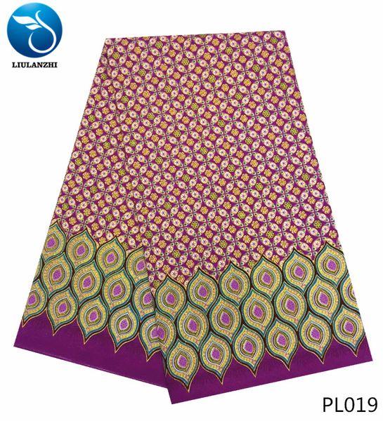 Nouveau Polyester Wax Prints Fabric 2018 Ankara polyester Wax Haute Qualité 12 yards Tissu Africain Pour La Robe De Soirée PL