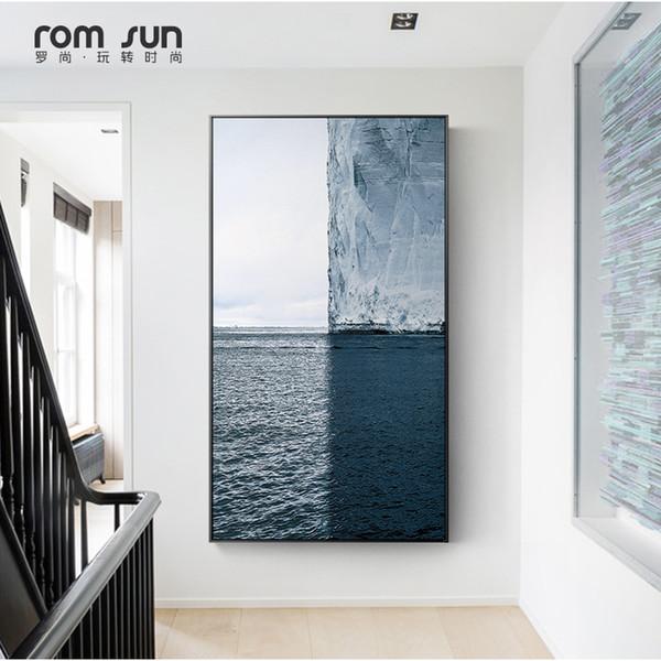 Скандинавский стиль плакат океан пейзаж холст картины стены искусства фотографии для гостиной домашнего декора плакаты и принты HD современный