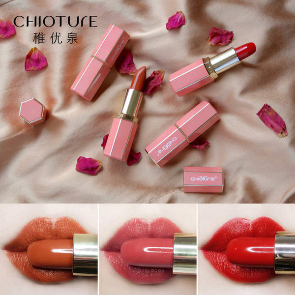 CHIOTURE Matte Lipstick Makeup Red velvet Nude Mate Lipstick Makeup Waterproof Lip Stick Cosmetic Batom Sexy