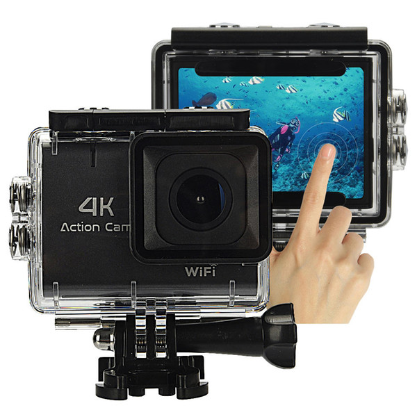 """4K WiFi Sport Camera 1.8"""" Touch Screen Vlog Camera for Youtube Waterproof DV Video Action Camera 140° Wide Angle"""