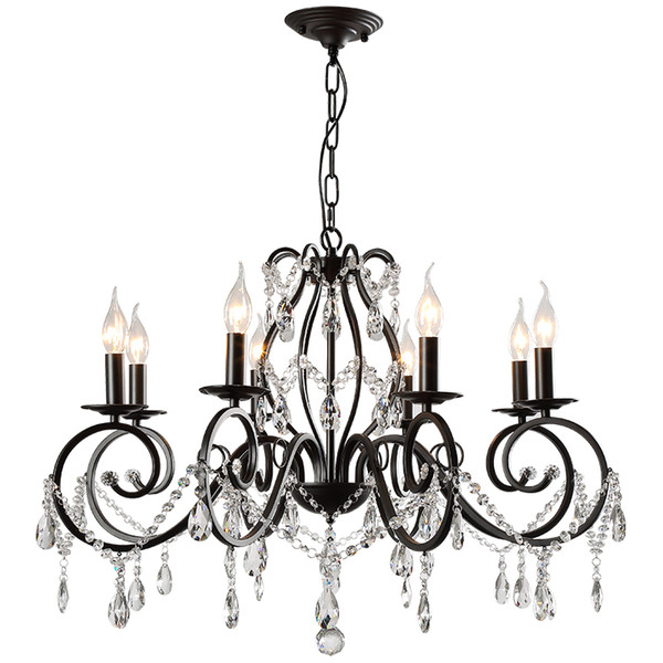 8 Lights cheap Chandeliers-Chandelier Pendant Light Ambient Light - Crystal, Artistic Traditional / Classic, 110-120V 220-240V Bulb Not Incl