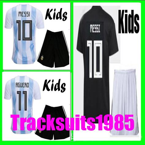 Rugby 2018 2019 Kids Jersey Argentina DI MARIA HIGUAIN KUN AGUERO 18 19 Messi child teen Home away Jerseys 10 or more free to send DHL