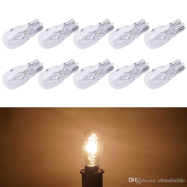 10pcs/box Warm White Car T13 Wedge 12V 10W Halogen Bulb External Halogen Lamp Replacement Dashboard Bulb Light #1309