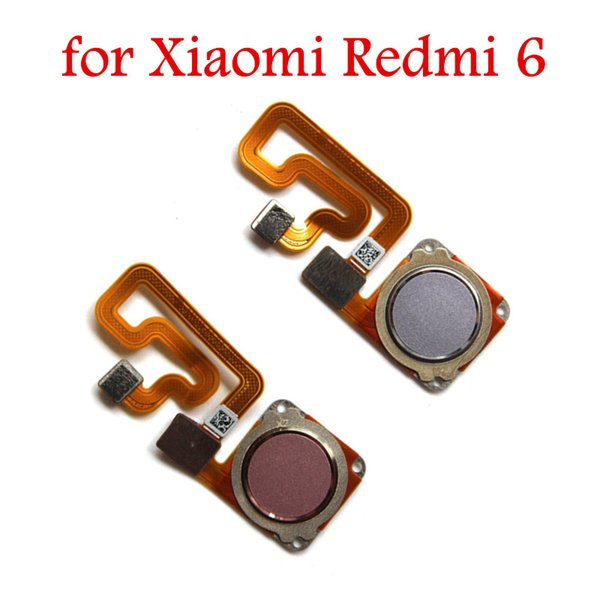 For Xiaomi Redmi 6 Fingerprint Scanner Home Button Flex Cable Touch ID  Sensor Return Flex Cable For Xiaomi Redmi6 Repair Parts Usb Cables Cell  Phone