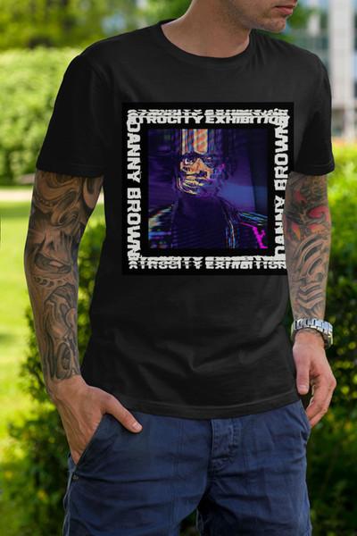 Danny Brown-Atrocity Sergi Siyah T Gömlek Boyutu S-3XL T-Shirt Erkekler Erkek Dijital Doğrudan Baskı Özel Kısa Kollu 3XL erkek T Shirt