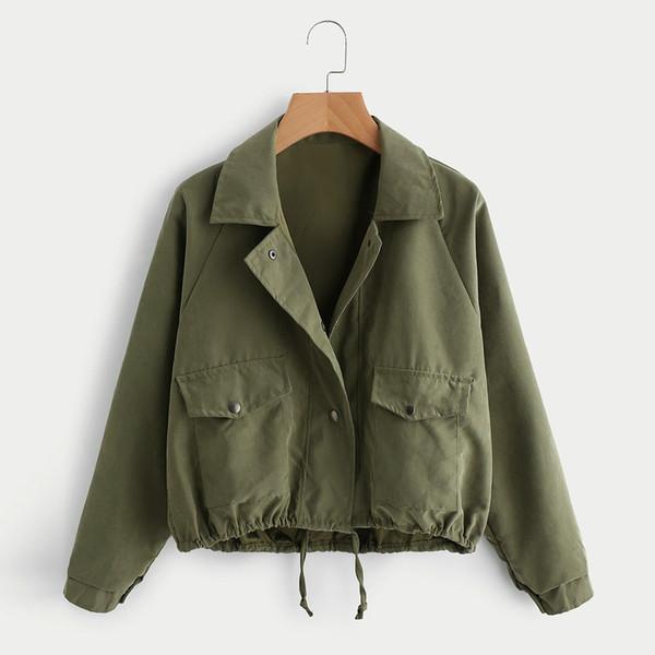Korean design Button Jacket Coat 2018 Autumn women's jacket Harajuku fashion female clothes long sleeve jackets Coats befree