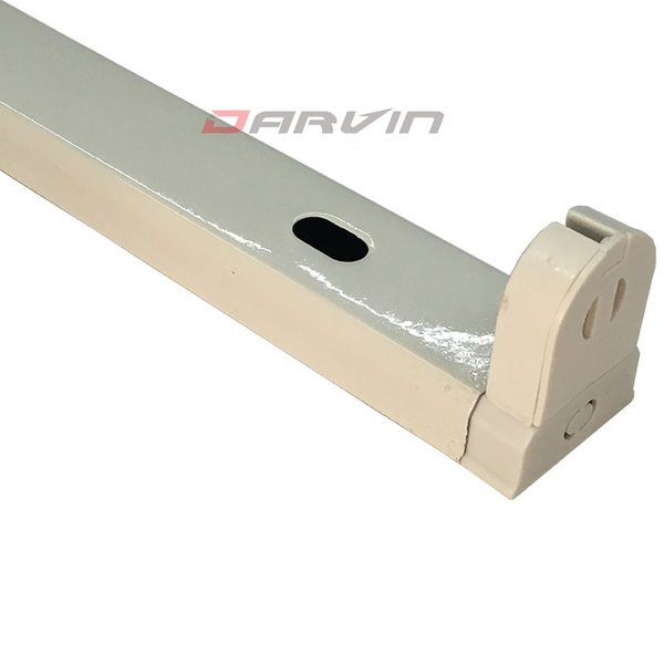 T8 Fixture 4ft 1200mm tubo led Soporte de Soporte Integrado Hierro Fixture Terminales Dobles Envío gratis