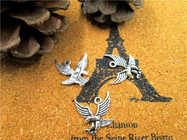 60 Stück, Adler Antik Silber Charms, Adler Charms, tibetische Silberfarbe Anhänger Charms, Schmuckzubehör, DIY