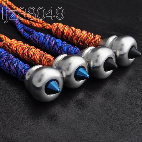 нержавеющая сталь с ЧПУ пик нож ожерелье кулон нож талреп шарик EDC молния тянуть ключ кулон инструменты