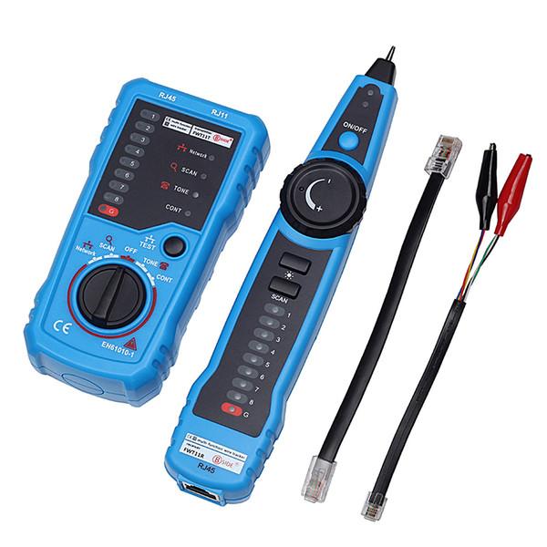 RJ11 RJ45 Cat5 Cat6 Telefono Wire Network Tracker Tracer Toner Ethernet LAN Cable Tester Rivelatore Linea Finder Gadget