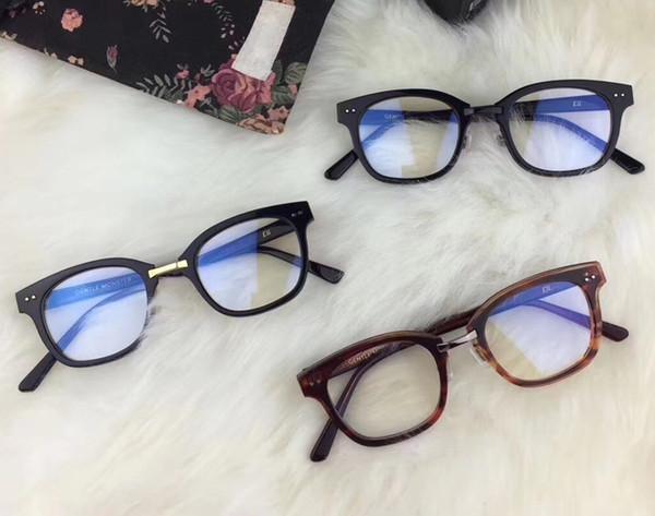 Korea Gentle ELL 01 squre Frame eye Glasses Frame V logo Retro Women and Men Reading Glass Protection Eyeglasses oculos de grau